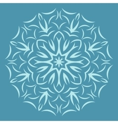Round flower pattern on blue background vector image vector image
