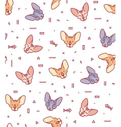 seamless pattern with cats for fabric vector image