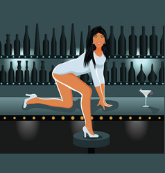 sexy girl in night club vector image vector image
