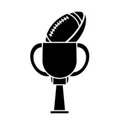 trophy football sport pictogram vector image