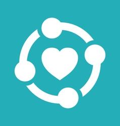 Unity heart graphic vector