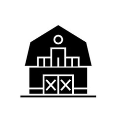 warehouse - farm - barn icon vector image