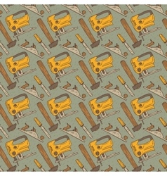 Seamless pattern with tools vector