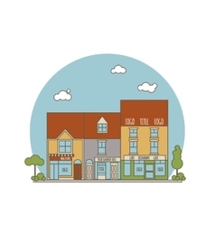 Color flat street vector