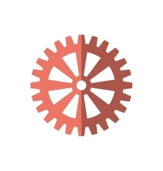 Gear cog wheel red icon vector