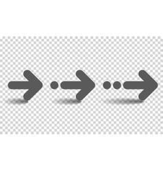 Arrow Set Isolated on Transparent vector image