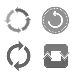 Circle button isolated vector