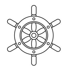 ship wheel icon outline style vector image