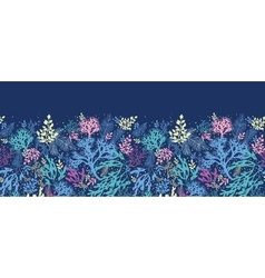 Underwater seaweed horizontal seamless pattern vector