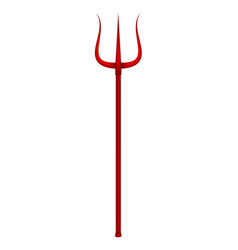 Trident in red design vector
