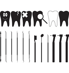 Dentistry tools vector