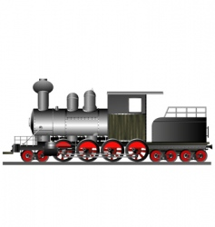 Vintage locomotive vector