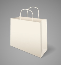 Paper shopping bag vector