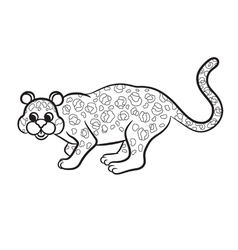 Leopard black and white vector