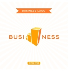 Business logos flat chart stage growth vector