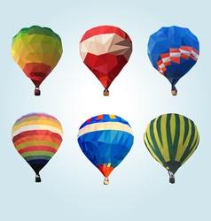 Hot air balloon polygon vector image