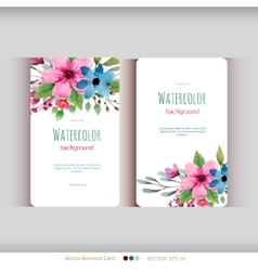 Set of abstract watercolor cards vector