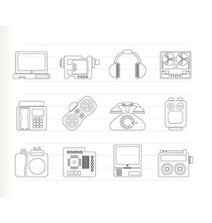 Media and technical equipment icons vector