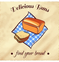 Bread on a napkin vector