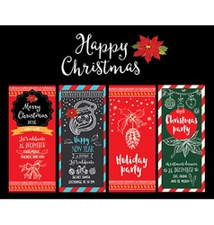 Christmas party invitation holiday card vector