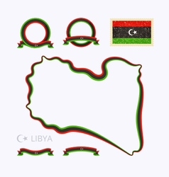 Colors of libya vector