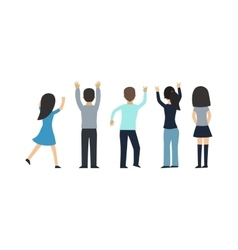 Fans people on white background vector