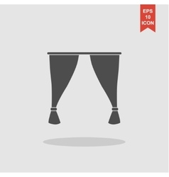 Curtain icon vector
