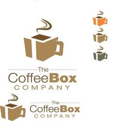 Cofee box logo vector