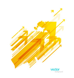 Abstract yellow arrows background wallpaper vector