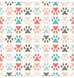 Animal seamless pattern of paw footprint endless vector