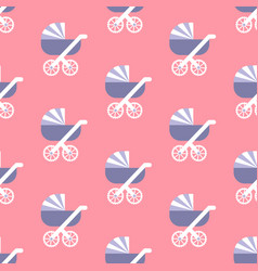 Baby carriage pattern vector