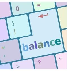 Balance computer keyboard key button raster vector