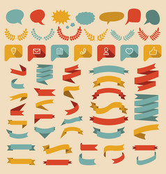 Big set of different shapes ribbons vector