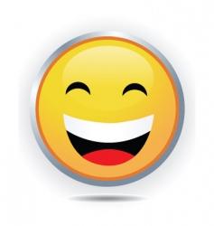 big smiley vector image
