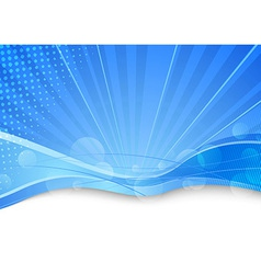 Blue transparent background template vector image