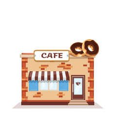 cafe colorful store front on white background vector image