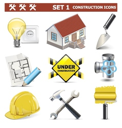 Construction Icons Set 1 vector image vector image
