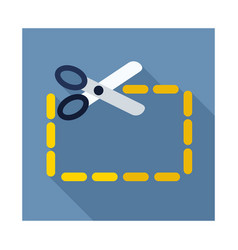 Coupon cutting icon vector