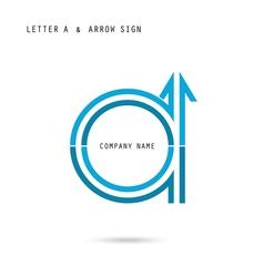 Creative letter a icon abstract logo design vector