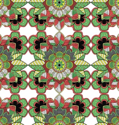 Decorative Floral Ornamental Seamless Pattern vector image vector image