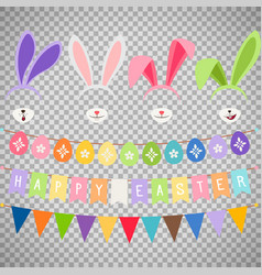Easter party decoration elements vector
