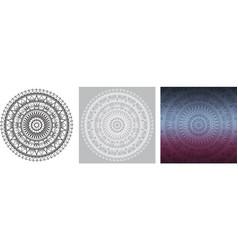 geometric mandala for coloring book square vector image vector image