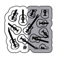 Guitar music icon image vector