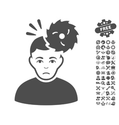 Headache icon with tools bonus vector