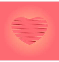 Heart origami Background vector image vector image