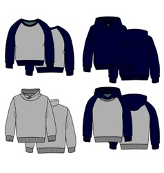 Hoodies color vector image