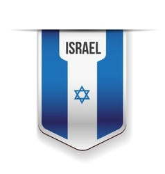 Israel flag ribbon vector
