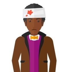 Man with injured head vector