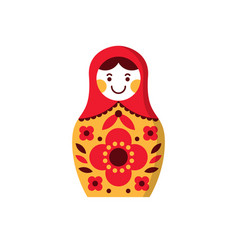 Matryoshka russian nesting doll souvenir russia vector
