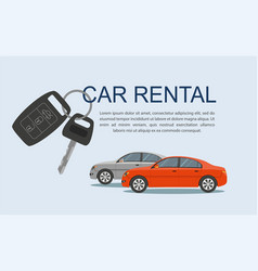 Rental car rental concept with cars vector